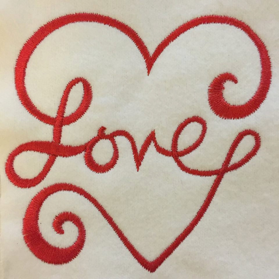 Love heart embroidery design in sizes sew fluffy