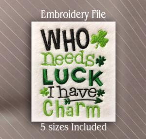 who needs luck