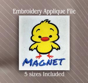 chick magnet applique