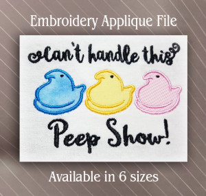 chick peep applique