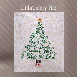 luke 211 bible verse christmas tree