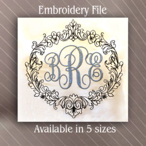 decorative frame monogram