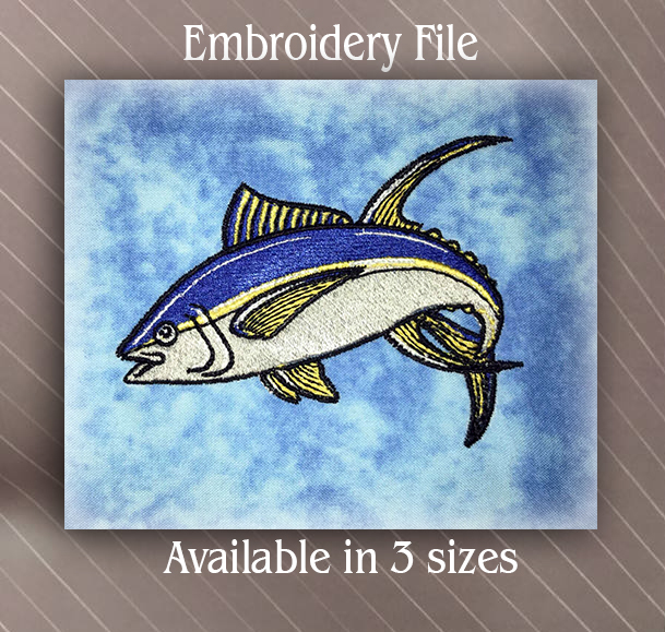 Jumping Tuna Fish Embroidery Design Sew Fluffy Machine Embroidery