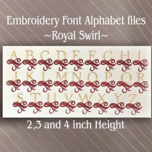 Royal Swirl Font alphabet
