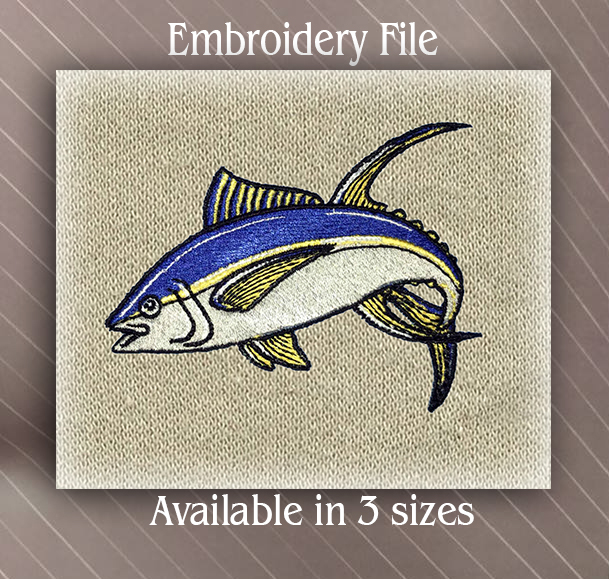 Tuna Fish Embroidered Iron On Patch Fishing Sports