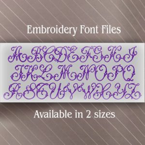 Vintage Swirl embroidery alphabet set fonts