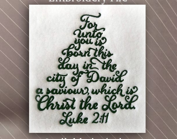 christmas tree bible verse luke 211 4 sizes available