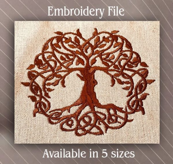 celtic tree of life embroidery