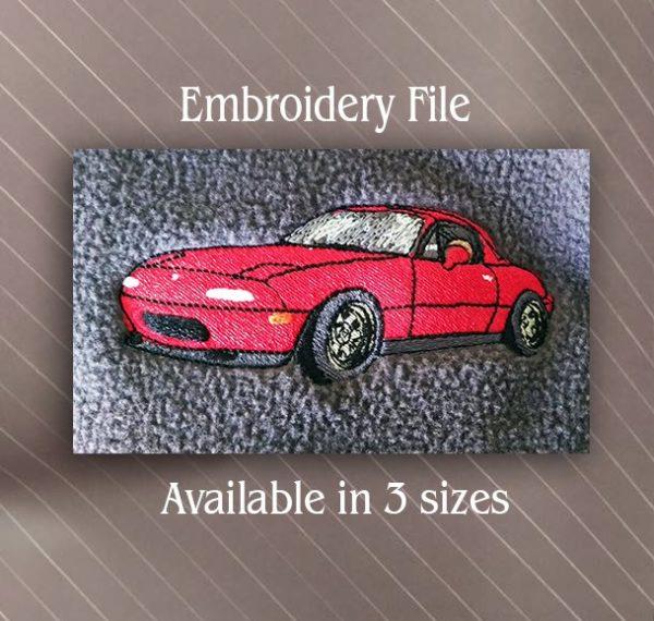 mazda sport car embroidery