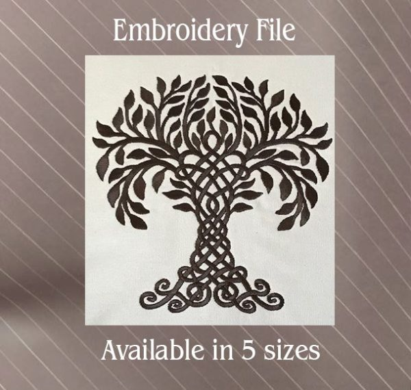 tree of life celtic embroidery file