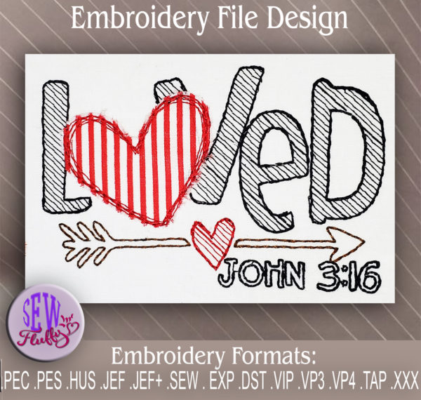 embroidery design scripture
